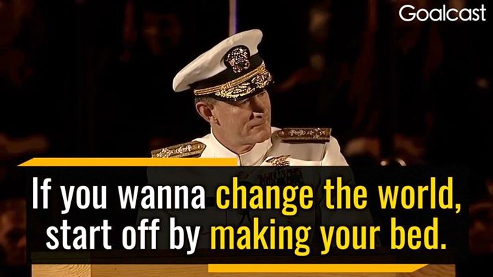 Be focused on making your business better one task at a time.Former US Navy Admi…